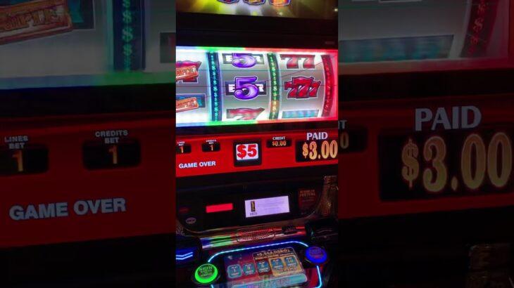 ラスベガス ベラージオホテルの1回転5$のスロット