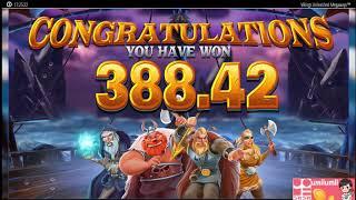 【うみうみカジノ】【Megaways大事故】Vikingsのスロットで爆発!高配当切り抜き#26